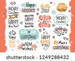 cute new year and christmas... | Shutterstock .eps vector #1249288432