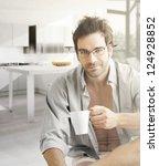 interior portrait of a hot... | Shutterstock . vector #124928852