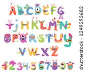 Cute And Funny Monster Alphabet ...