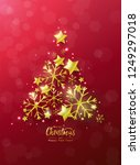 christmas and new year... | Shutterstock .eps vector #1249297018