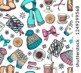 winter holiday seamless pattern....