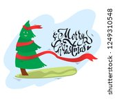 vector christmas tree with... | Shutterstock .eps vector #1249310548