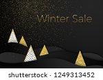 layered vector winter sale... | Shutterstock .eps vector #1249313452