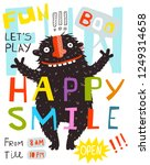 monster fun happy smile... | Shutterstock .eps vector #1249314658