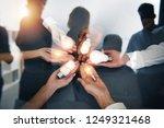 teamwork and brainstorming... | Shutterstock . vector #1249321468
