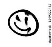 graffiti grunge emoji with... | Shutterstock .eps vector #1249322452