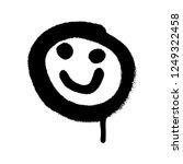graffiti grunge emoji with... | Shutterstock .eps vector #1249322458