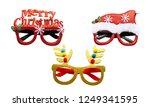 merry chrismas eye glasses... | Shutterstock . vector #1249341595