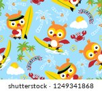 seamless pattern vector with... | Shutterstock .eps vector #1249341868