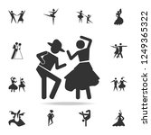 dancing couple icon. set of... | Shutterstock . vector #1249365322