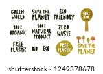text sign  slogan design set on ... | Shutterstock .eps vector #1249378678