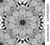 intricate floral black and... | Shutterstock .eps vector #1249382005