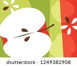 abstract fruit design in flat... | Shutterstock .eps vector #1249382908