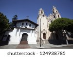 Mission Dolores, a late 18th century Catholic Church in San Francisco, is the city's oldest standing structure. - stock photo