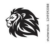 lion head vector icon logo... | Shutterstock .eps vector #1249392088