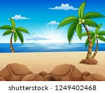 view of beautiful sunrise in... | Shutterstock .eps vector #1249402468