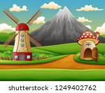 windmill building and the... | Shutterstock . vector #1249402762