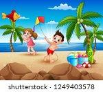 Cartoon Of Little Children...