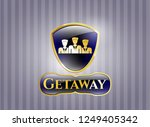 gold emblem with business... | Shutterstock .eps vector #1249405342