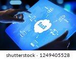 saas   software as a service ... | Shutterstock . vector #1249405528
