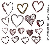 heart set | Shutterstock .eps vector #124940612