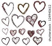 heart set | Shutterstock .eps vector #124940612