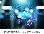 fintech financial technology... | Shutterstock . vector #1249406482
