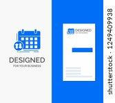 business logo for schedule ... | Shutterstock .eps vector #1249409938