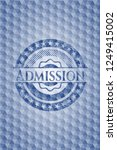admission blue badge with... | Shutterstock .eps vector #1249415002