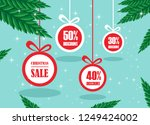 merry christmas and happy new... | Shutterstock .eps vector #1249424002