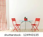 interior in a modern style with ... | Shutterstock . vector #124943135