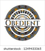 obedient arabesque style badge. ... | Shutterstock .eps vector #1249433365