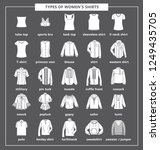 types of women's shirts with... | Shutterstock .eps vector #1249435705
