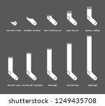 types of socks set. no show ... | Shutterstock .eps vector #1249435708