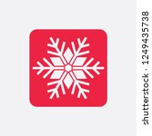 snowflake icon or logo.... | Shutterstock .eps vector #1249435738