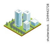 multi storey buildings with... | Shutterstock . vector #1249442728