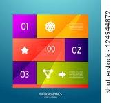 infographic banner design... | Shutterstock .eps vector #124944872