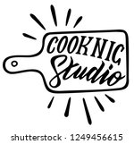 cooking studio. ink hand... | Shutterstock .eps vector #1249456615