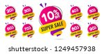 sale tags set vector badges... | Shutterstock .eps vector #1249457938