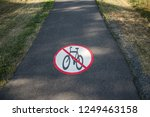 no bike sign. interdiction of... | Shutterstock . vector #1249463158