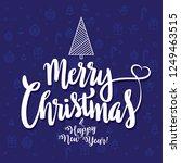 merry christmas   happy new... | Shutterstock .eps vector #1249463515