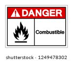 danger combustible symbol sign  ... | Shutterstock .eps vector #1249478302