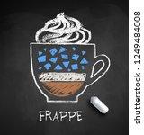 vector sketch of frappe coffee... | Shutterstock .eps vector #1249484008