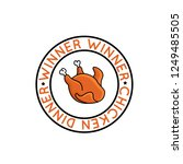 winner winner chicken dinner... | Shutterstock .eps vector #1249485505