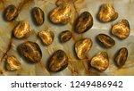3d wallpaper  golden stones... | Shutterstock . vector #1249486942