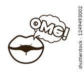 lips saying omg avatar character   Shutterstock .eps vector #1249493002