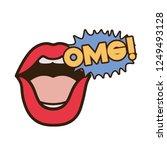 lips saying omg avatar character   Shutterstock .eps vector #1249493128