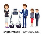 the use of robots to replace... | Shutterstock .eps vector #1249509538