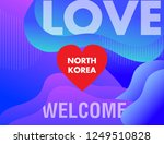 north korea love with red heart....   Shutterstock .eps vector #1249510828