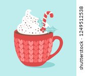 christmas hot chocolate with... | Shutterstock .eps vector #1249512538